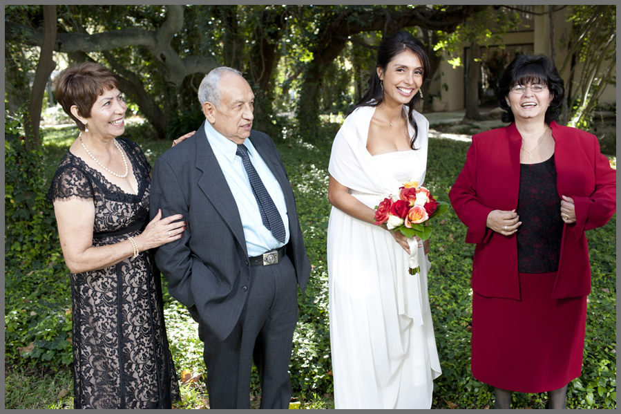 family and bride